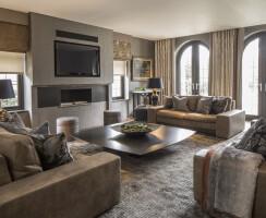 London family home living room