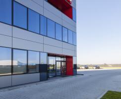 Long facade entrance view