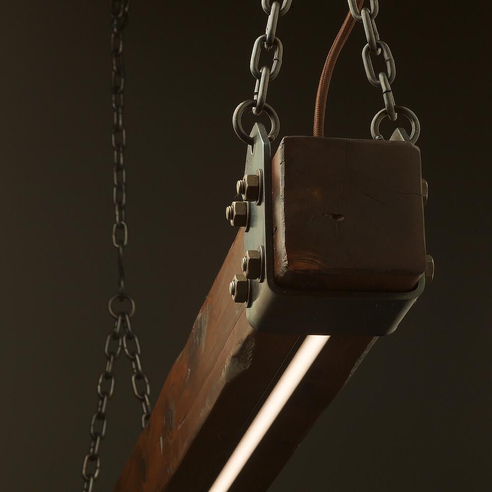 Wood Beam LED Pendant Light No.1