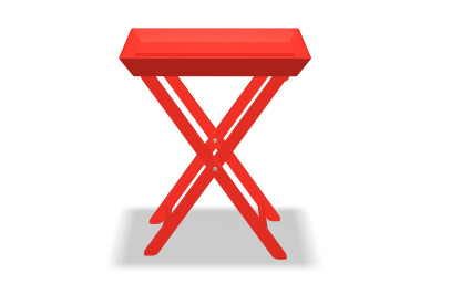 Bright Lacquer Tray Table