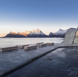 Uredd rest area along Norwegian Scenic Route