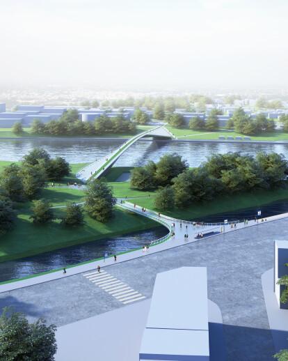 Kaunas Pedestrian and Cyclist Bridge