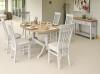 106cm Cobham Painted Round Extending Single Pedestal Dining Table