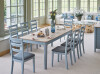Newbury Rectangular Extending Table with 8 Guernsey Dining Chairs