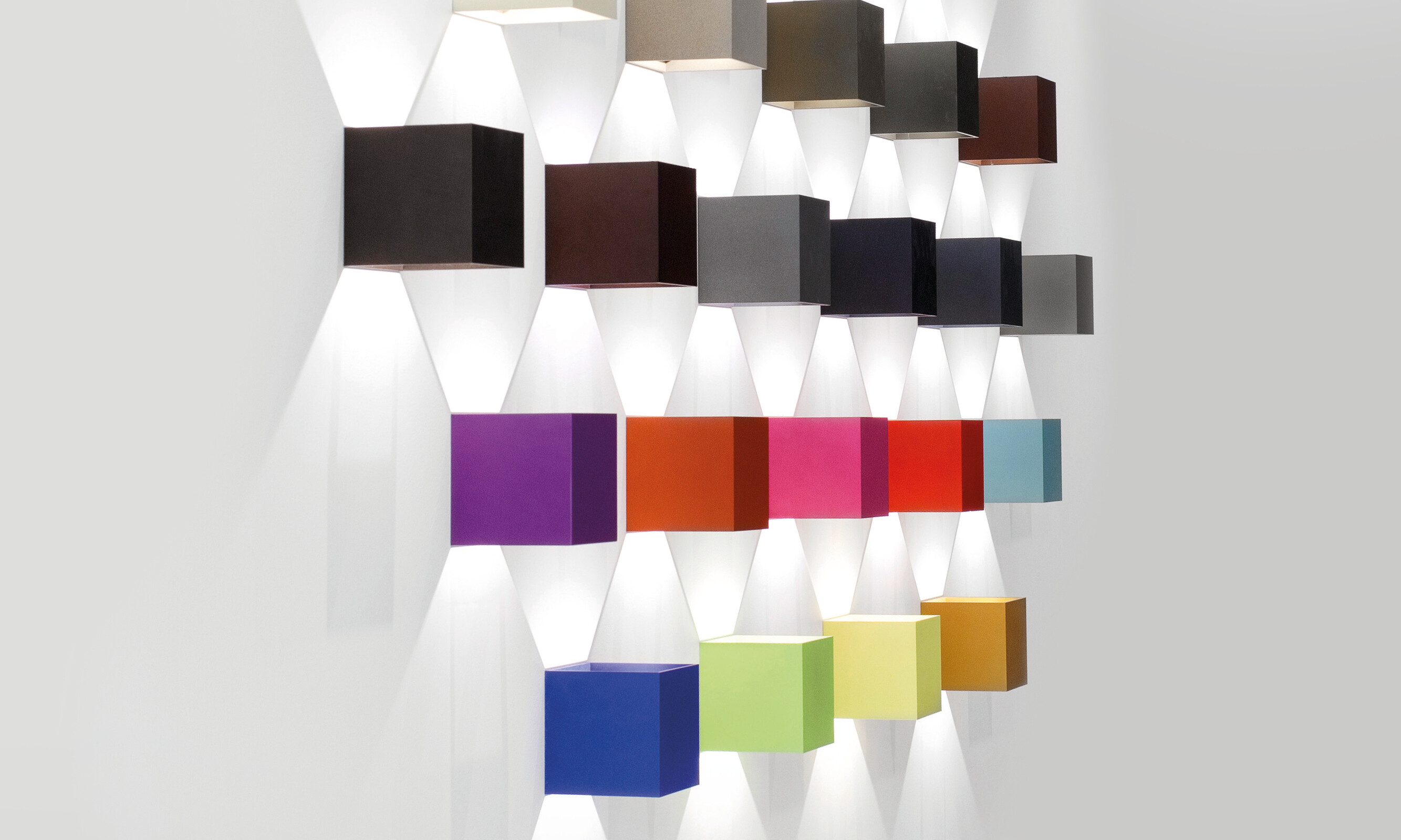 Dice Wall with colour inserts