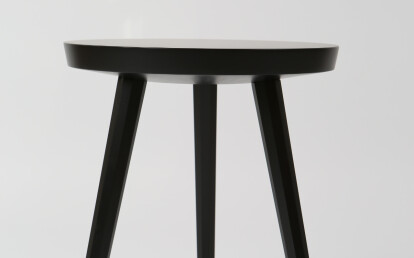 Marlon Side Table in oak, black stain