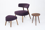 Marlon Lounge Chair & Ottoman with Kvadrat fabric Divina 3