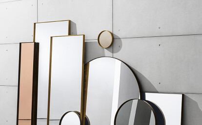 Visual round mirrors