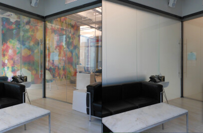 Switchable LC Privacy Glass Walls