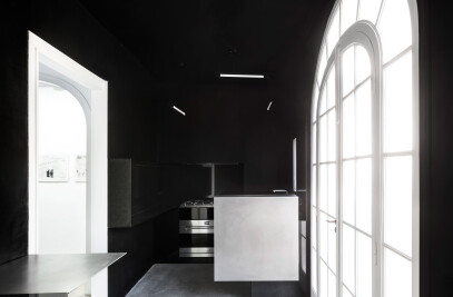 Kitchen in H2o Art Gallery Barcelona