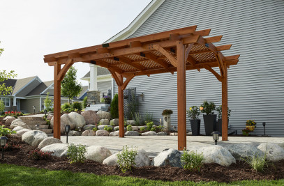 Redwood Sonoma Wood Pergola Kit