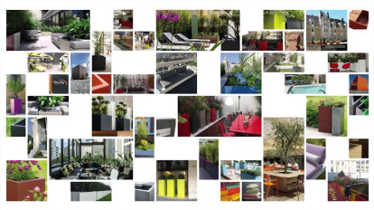 Image'In par ATELIER SO GREEN : Jardinière Fibre Ciment Sur mesure