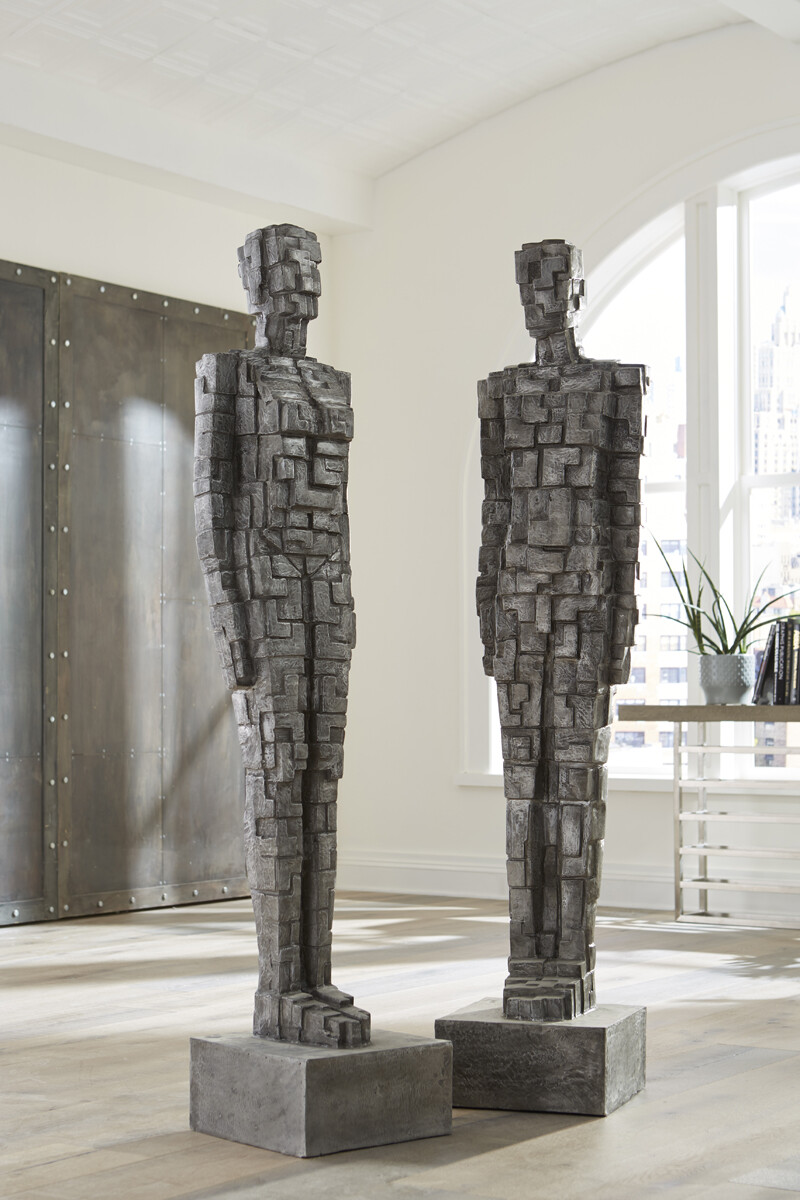 Puzzle Man and Woman Sculpture