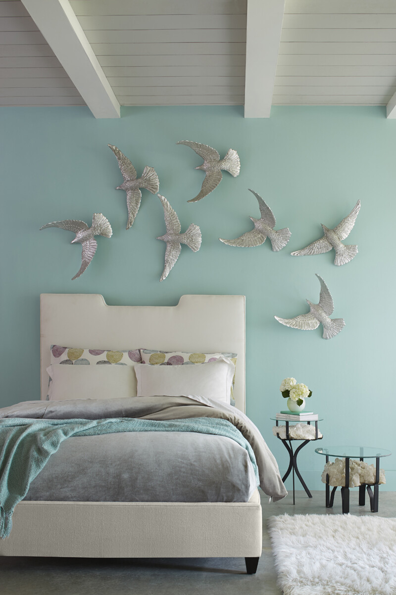 Dove Wall Sculpture, Silver Leaf