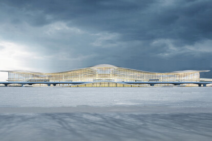 Yantai International Airport Terminal 2, Yantai, China, by Aedas
