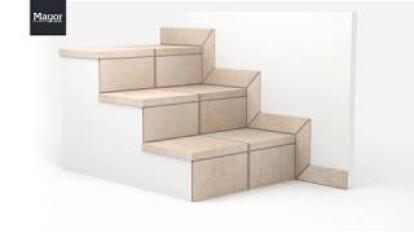 Cómo instalar peldaños de cerámica para escaleras de gres. Cerámica Mayor