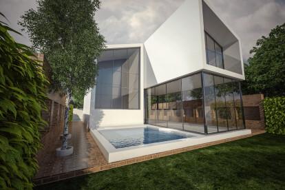 Slat House Exterior