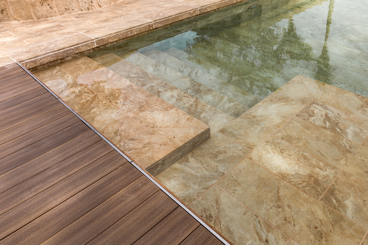 Sea Rock, Pool copings and outdoor tiles