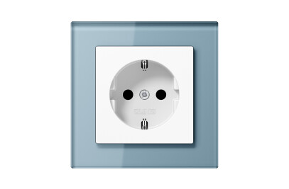A Creation SCHUKO-Socket in blue grey