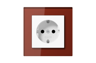 A Creation SCHUKO-Socket in red