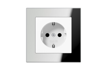 A Creation SCHUKO-Socket in silver