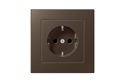 A Creation SCHUKO-Socket in mocha