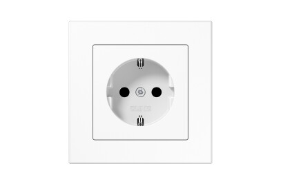 A Creation SCHUKO-Socket in white