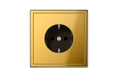 LS 990 SCHUKO-Socket in gold
