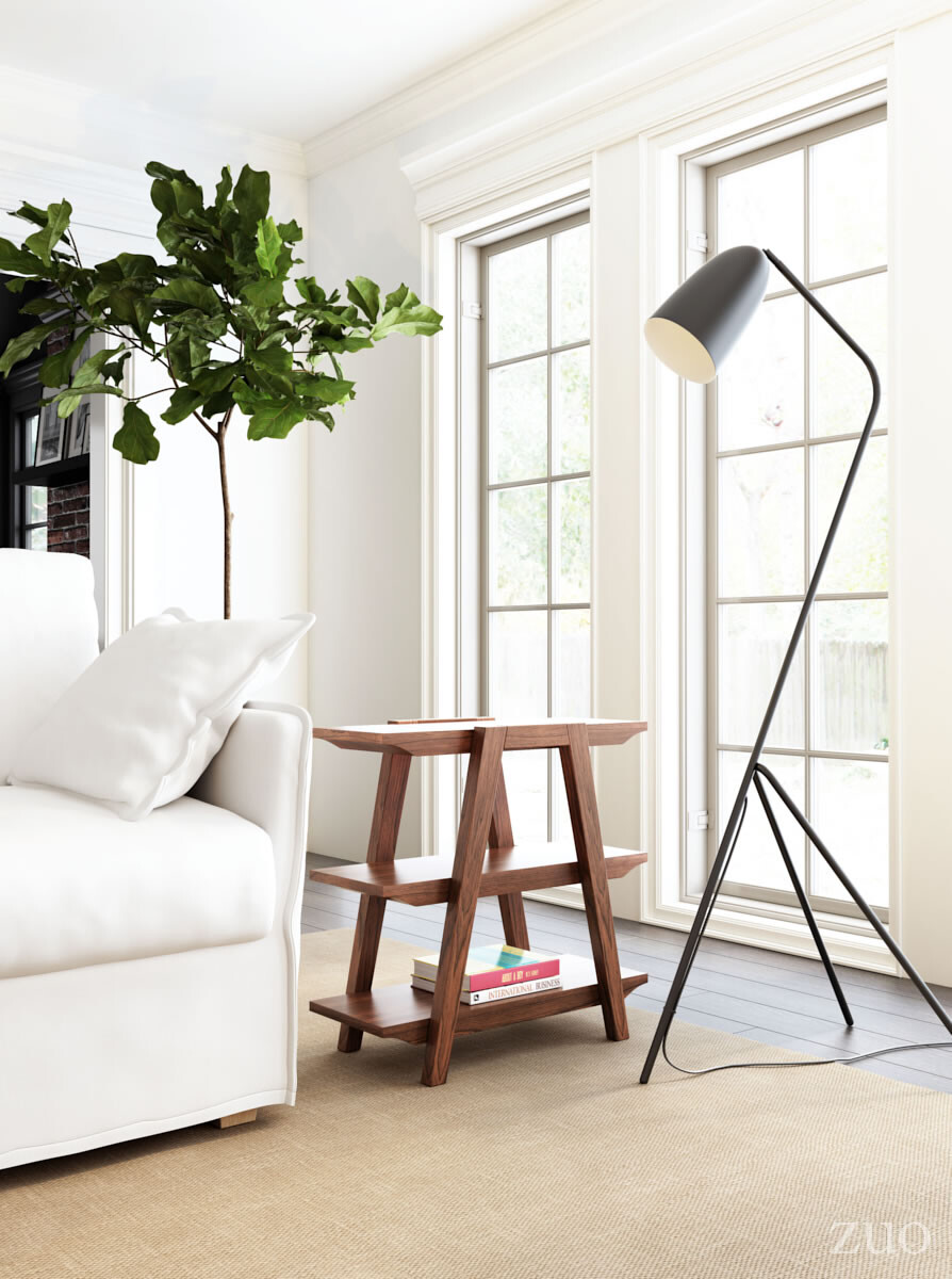 56083 Jamison Floor Lamp Matt Black