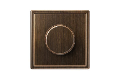 LS 990 Rotary Dimmer in antique brass
