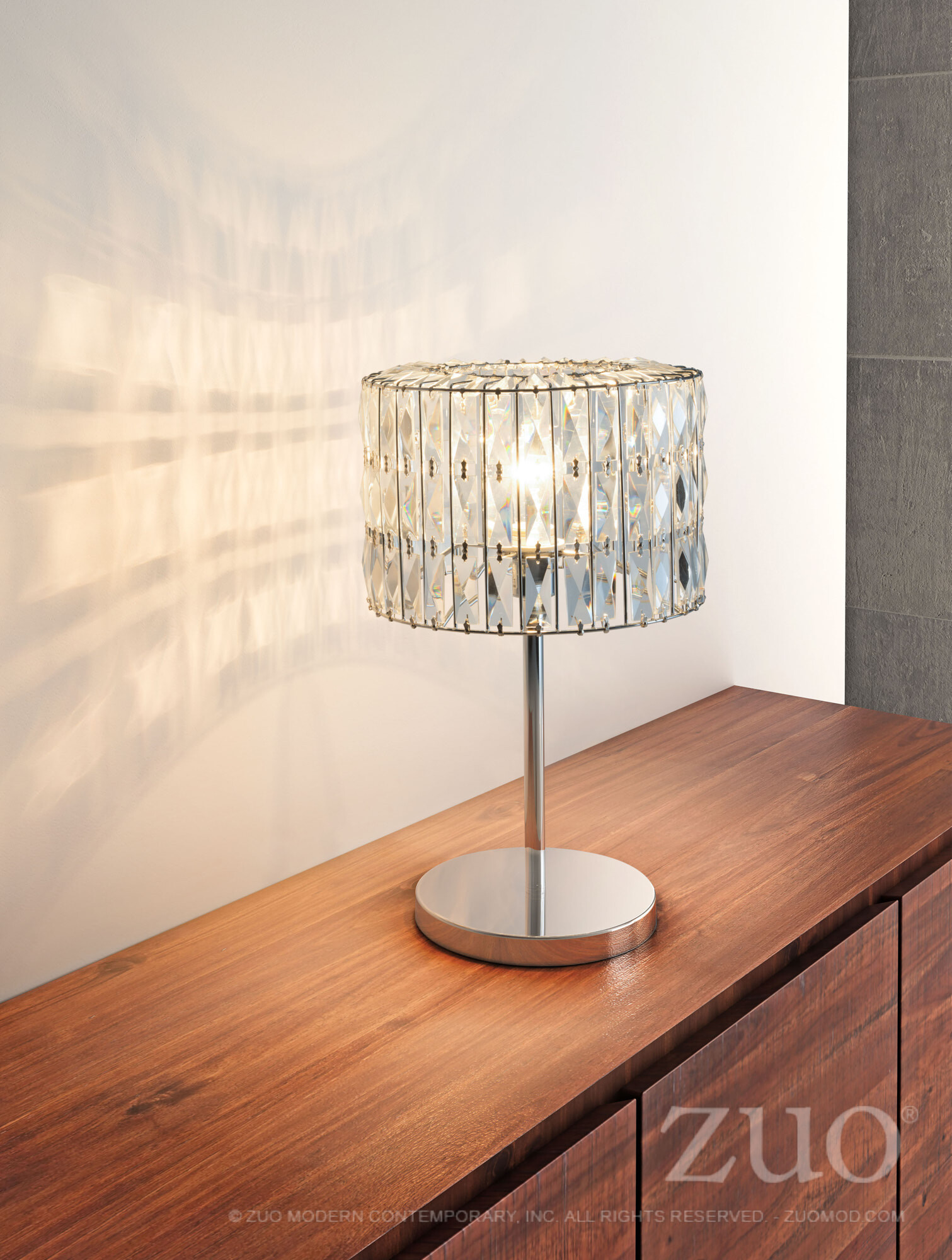 56056 Jena Table Lamp Chrome