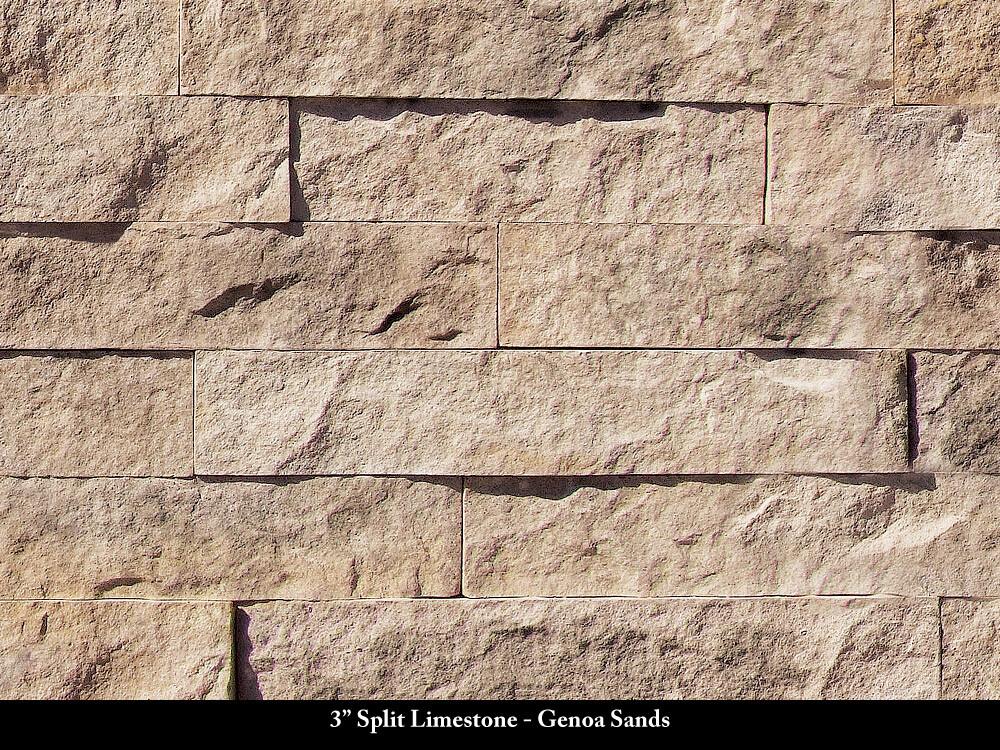 "3"" Split Limestone"