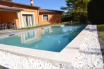 White rectangular concrete copings
