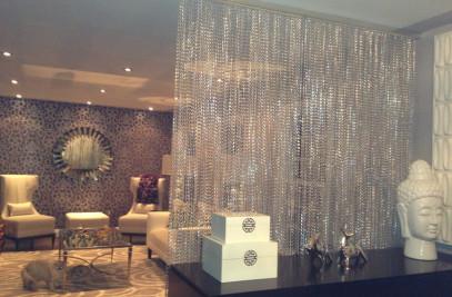 Aluminum link chain curtain-interior decoration for spa