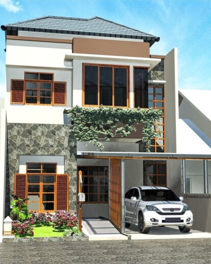 Tropis Modern House Concept . Indones