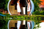 6-person outdoor traditional sauna