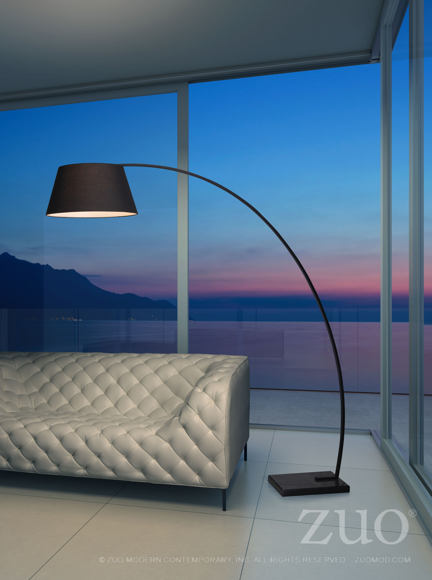 50074 Vortex Floor Lamp - Black