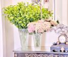 Murano blown glass vases