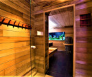 Traditional Sauna With Aquarium