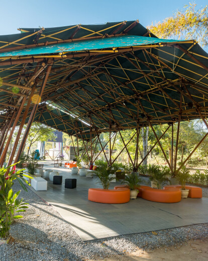 Deployable Bamboo Structure Pavilion