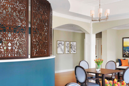 Spring Vines Custom Wall Partition