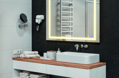 Häfele hotel accessories and mirror