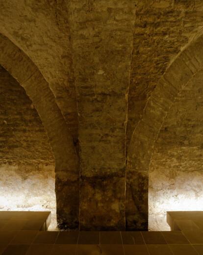 Intervención en los sótanos del Alcazar de Sevilla