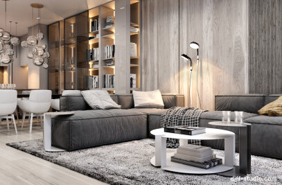Modern functional apartment in Moscow