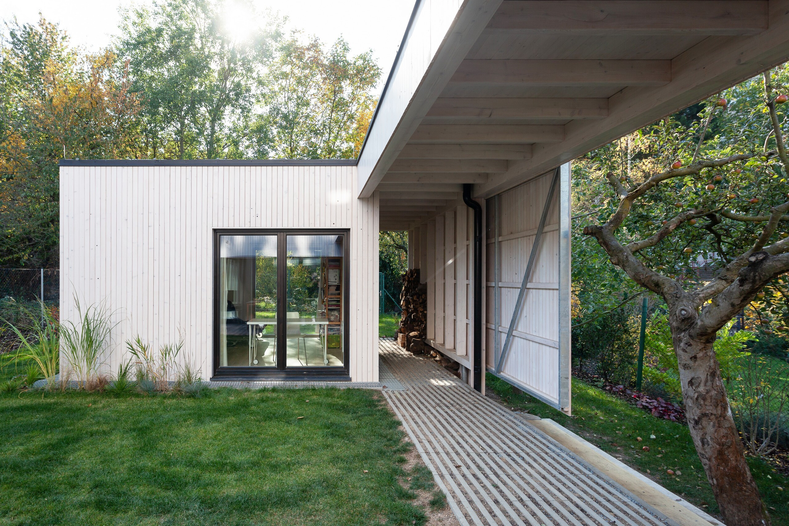 House over the backyard