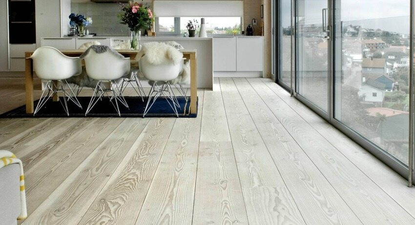 Ash engineered wood flooring