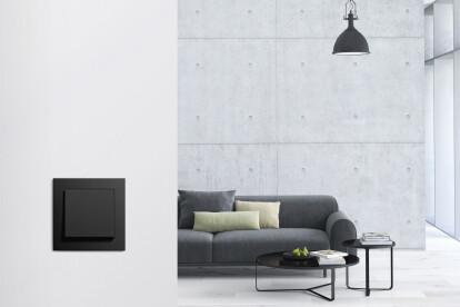 Gira E2 design line in black matt