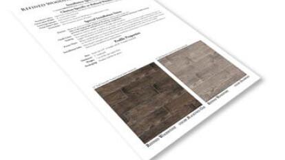 Refined WoodStone Spec Sheet