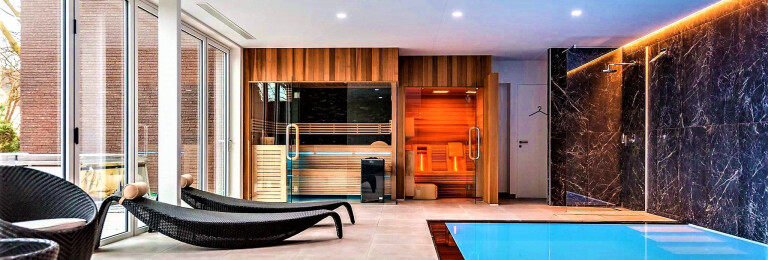 Traditional Sauna And Infrared Lounger