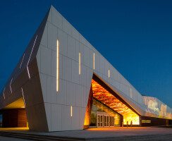 Canada Science and Technology Museum - exterior with wall projection
